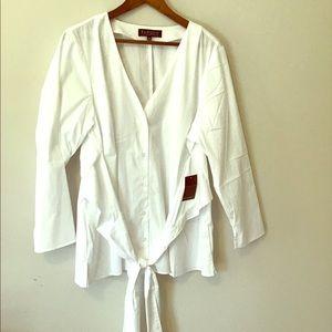 Gorgeous NWT White ELOQUII top